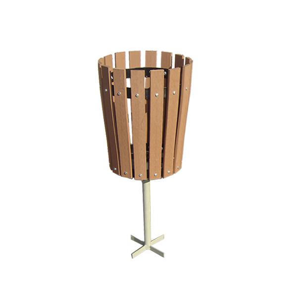 basurero madera plastico