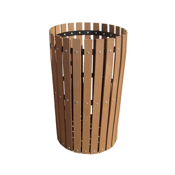 basurero madera reciclada