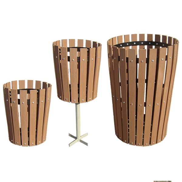 basureros madera plastica